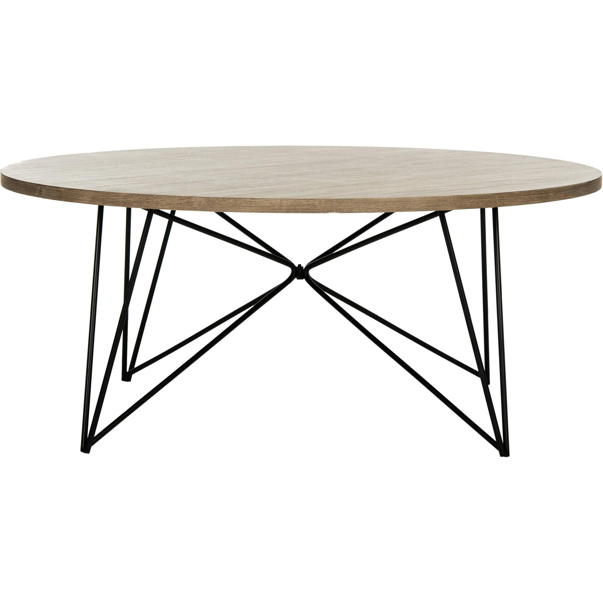 Transitional coffee table - Safavieh Maris 33 5 Round Retro Mid Century Coffee Table Multiple Colors Walmart Com