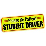Please Be Patient Student Driver-Zone Tech Vehicle Bumper Magnet Effective Bumper Decal Neon Yellow