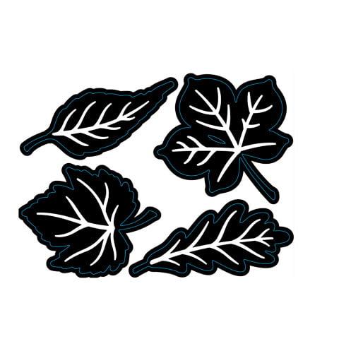 Die Cut Emboss Stencil Leaves 4Pc By Darice