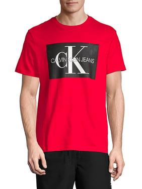 Calvin Klein Mens Tee Shirt Blue Size Medium M Logo Graphic Print