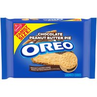 OREO Chocolate Peanut Butter Pie Sandwich Cookies 1 Resealable Family Size 17oz Pack, 17.16 Oz