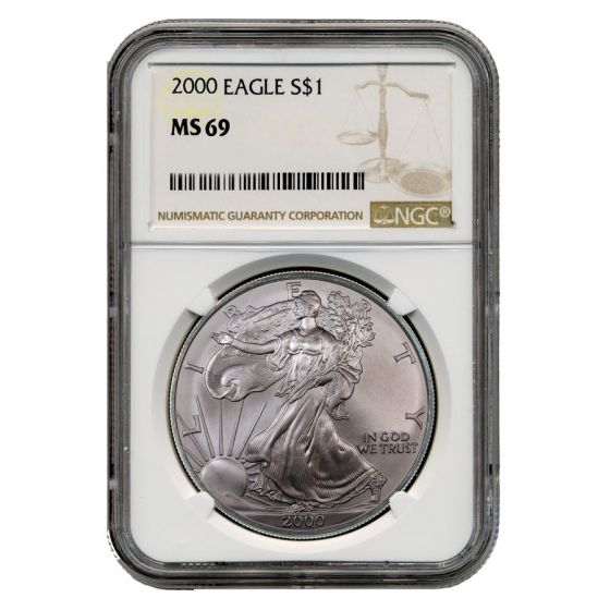 2000 American Silver Eagle NGC MS-69 1 oz Coin