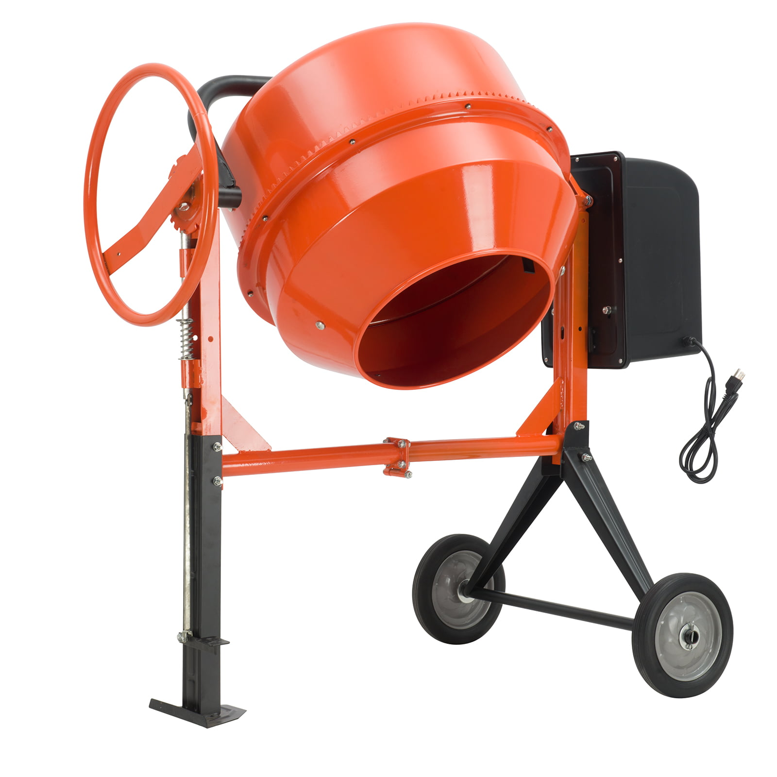 Concrete Cement Mixer SUNCOO 5cuft 1 2HP Electric Barrow Machine Mixing Mortar Portable by SUNCOO