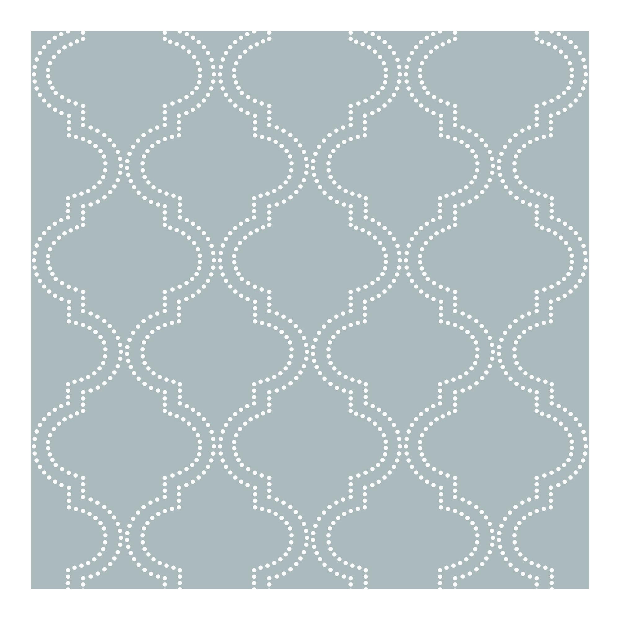 Slate Blue Quatrefoil Peel and Stick Wallpaper by NuWallpaper
