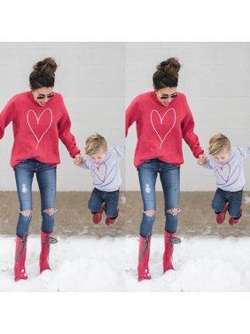 Family Clothing Mother Mum Baby Boy Girl T-shirt Sweater Sweatershirt Blouse Top
