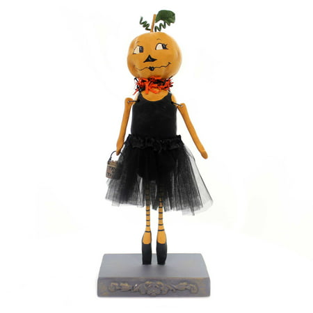 Halloween PUMPKIN BALLERINA Polyresin Tu Tu Trick Or Treat 72036](Make Vegan Halloween Treats)