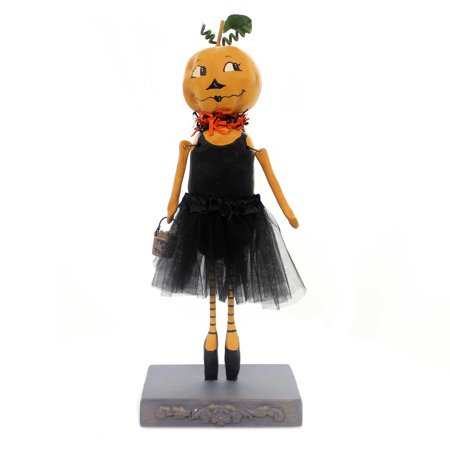 Halloween PUMPKIN BALLERINA Polyresin Tu Tu Trick Or Treat 72036 - Trick Or Treat A History Of Halloween