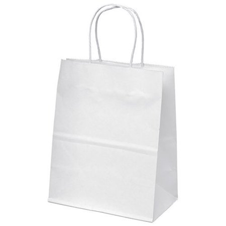 8 x4.75 x10  - 10 Pcs - White Kraft Paper Bags, Shopping, Mechandise, Party, Gift Bags 10-Bags This is reuseable paper bags with twisted handles. 8 x4.75 x10  - 10 Pcs - White Kraft Paper Bags, Shopping, Merchandise, Party, Gift Bags 10-Bags