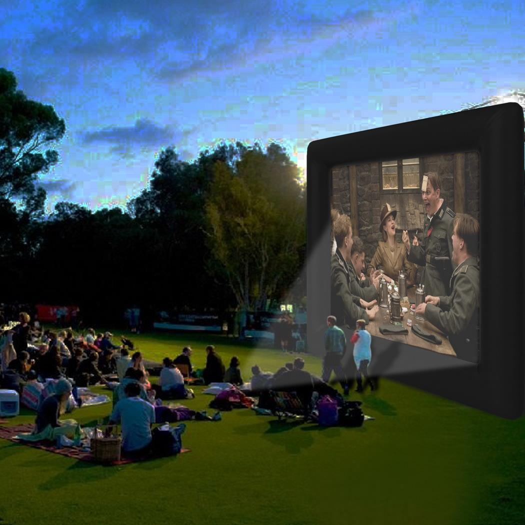 Outdoor Inflatable Movie Screen 4 x 3.5 m for a Backyard ...