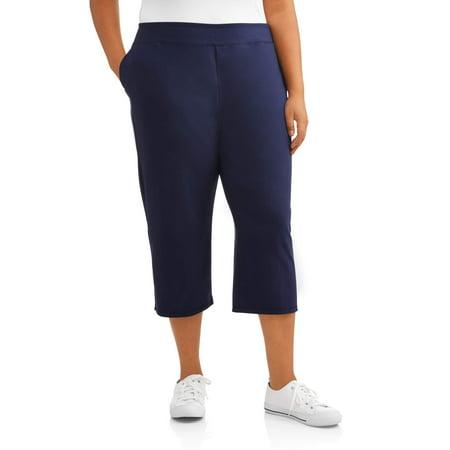 a036759d719e2 Terra   Sky - Women s Plus Athleisure Capri Pant - Walmart.com