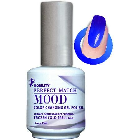 Frozen Makeup (LECHAT Perfect Match MOOD - Color Changing Gel Polish 0.5oz/ 15ml (MPMG06 - FROZEN COLD)