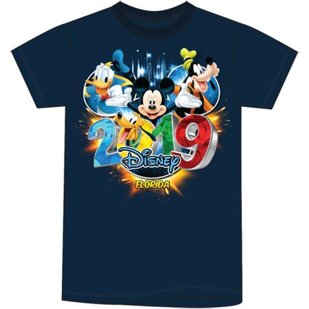 Disney Youth Unisex 2019 Dated Pop Out Mickey Goofy Donald Pluto (FL Namedrop) Small navy Blue