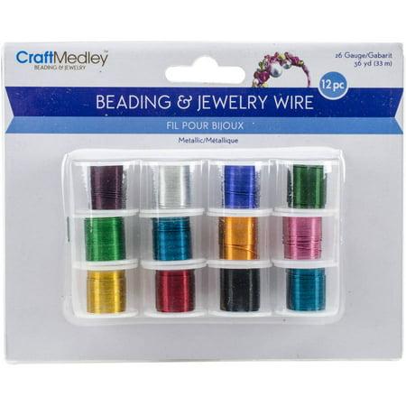 Metallic Beading & Jewelry Wire 26 Gauge, 108', 12pk, Assorted Colors