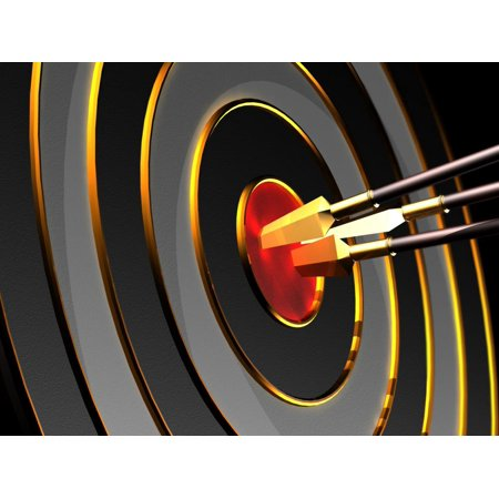 Target Decals - Wallmonkeys Arrows and Target Iv Peel and Stick Wall Decals Mural WM261217 (18 in W x 14 in H)