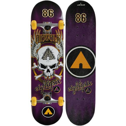 "AIRWALK Skateboard Complete UNDONE PURPLE 7.75"""