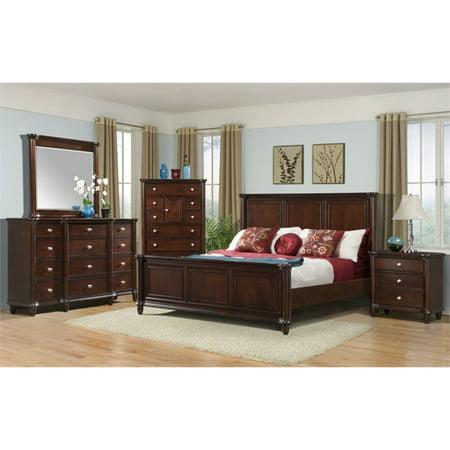 Picket House Furnishings Gavin 5 Piece Queen Bedroom Set in Cherry