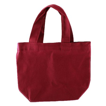Travel School Office Cosmetic Lunch Box Holder Sundries Storage Handbag Canvas Tote Bag Red ()