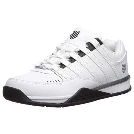 K-Swiss Men's Baxter Sneaker White/Black/Silver 12 M US