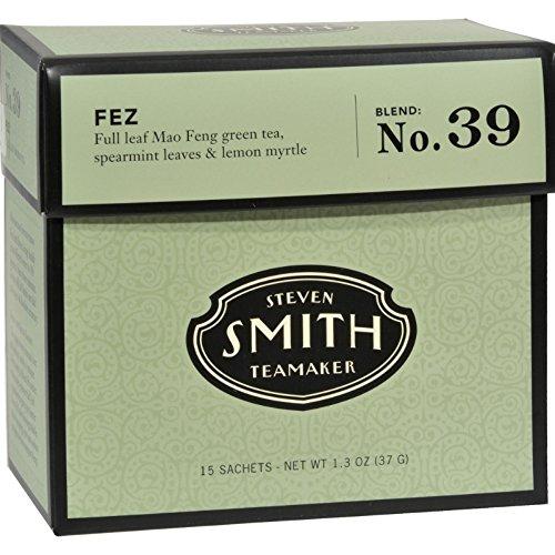 Steven Smith Teamaker Full Leaf Green Tea Fez No: 39 - 15 Tea Bags, 6 Pack