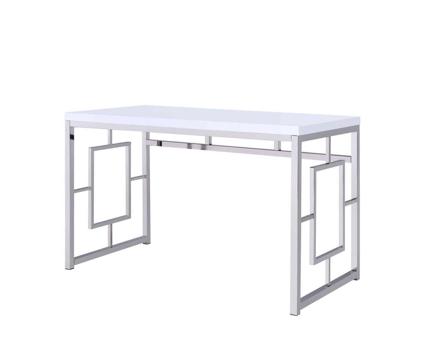 Steve Silver Alize Desk With White Finish AZ250DW by Steve Silver