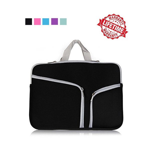 IClover 13 Inch Waterproof Thickest Protective Slim Laptop Case for Macbook Apple Samsung Chromebook HP Acer Lenovo Portable Laptop Sleeve Liner Package Notebook Case Soft Sleeve Bag Case Black