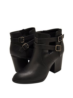 fac26528558 Product Image Delicious Body-S Women s Double Buckle Ankle Strap Booties