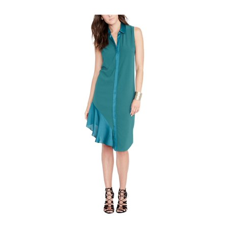 Rayon Crepe Dress - Rachel Roy Womens Crepe Shirt Dress