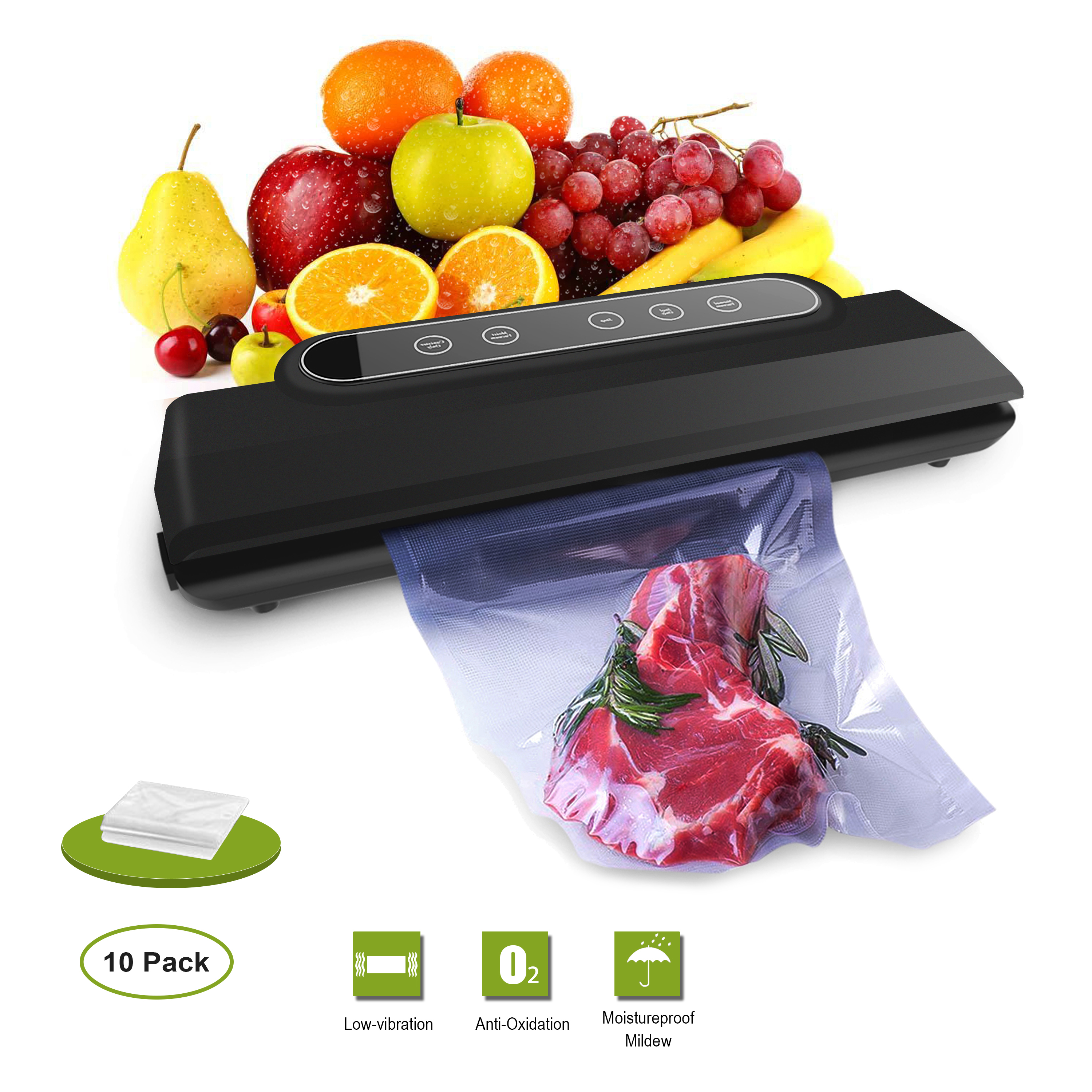 Vacuum Sealer Machine, Vacuum Sealing System and Handheld Sealer for Food Preservation Plus Vacuum Sealer Bags