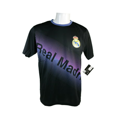 Icon Sport Group Real Madrid Official Adult Soccer Poly Jersey -J007 Small (Black Real Madrid Jersey Xxl)