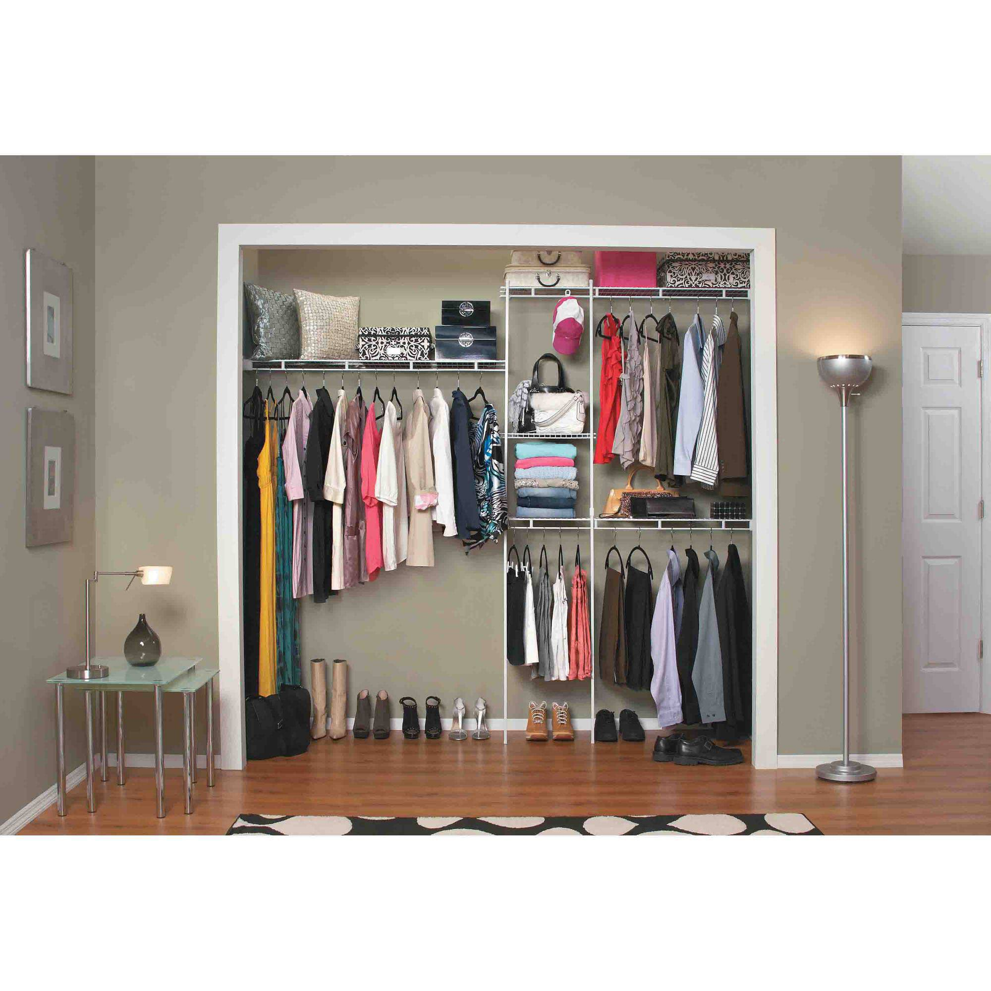Closet Shelving Unit Shelf Wall Mount Large Kids Clothes Organizer ...