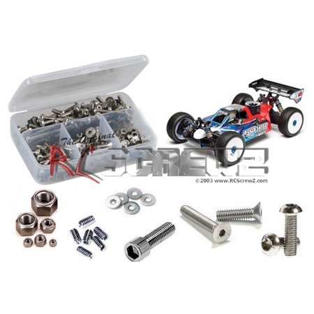 RC Screwz Stainless Steel Screw Kit for Associated RC8 B3 Team 1/8 (Team Associated Rc8 Center)