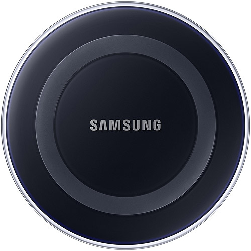 Samsung Qi Certified Wireless Charging Pad with 2A Wall Charger- Supports wireless charging on Qi compatible smartphones including the Samsung Galaxy S8, S8+, Note 8, Apple iPhone 8, and 8 Plus (US Version) - Black Sapphire