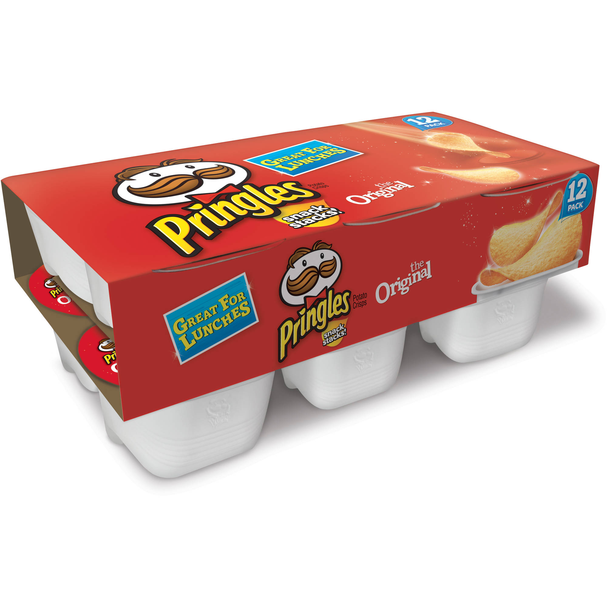 Pringles Original Potato Crisps Chips, 0.67 oz, 12 count