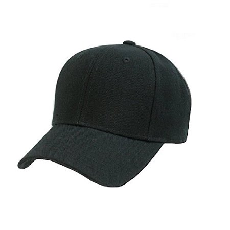 - Plain Unisex Baseball Cap - Blank Hat with Solid Color & Adjustable for Men & Women - Max Comfort (1 Unit, Black)