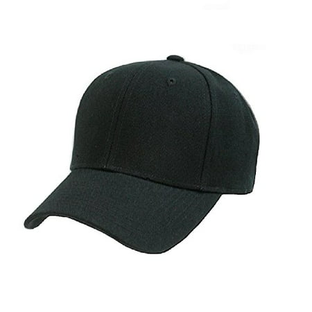 1 Fit New Hat Cap - Plain Unisex Baseball Cap - Blank Hat with Solid Color & Adjustable for Men & Women - Max Comfort (1 Unit, Black)