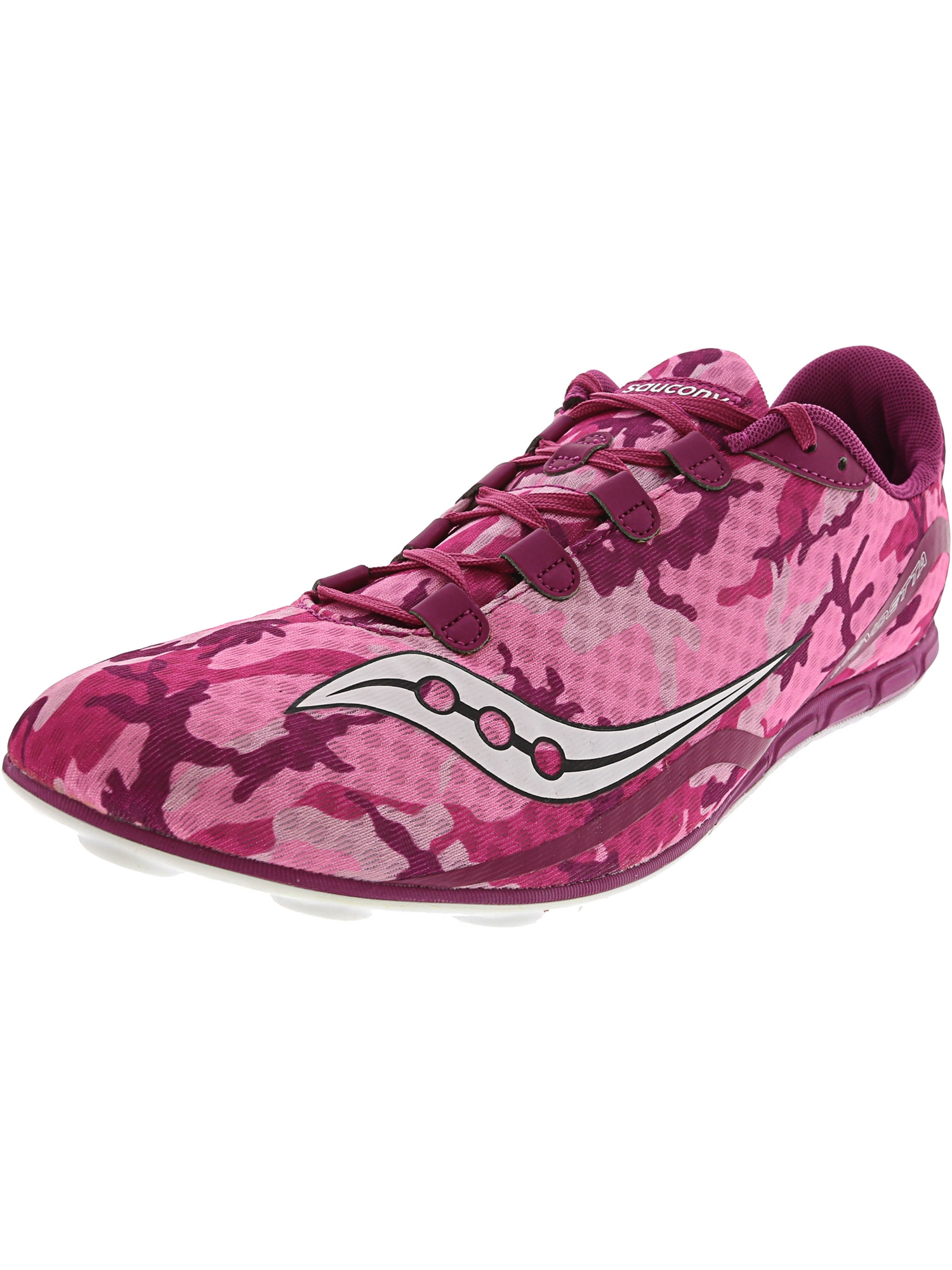 Saucony Women's Vendetta Pink/White Ankle-High Running Shoe - 12M