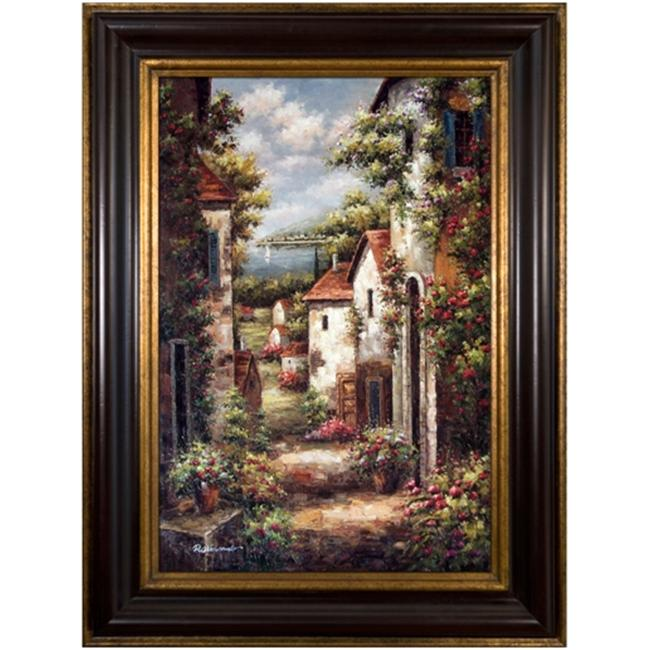 Artmasters Collection PA26248-83A Coastal Village Road Framed Oil Painting
