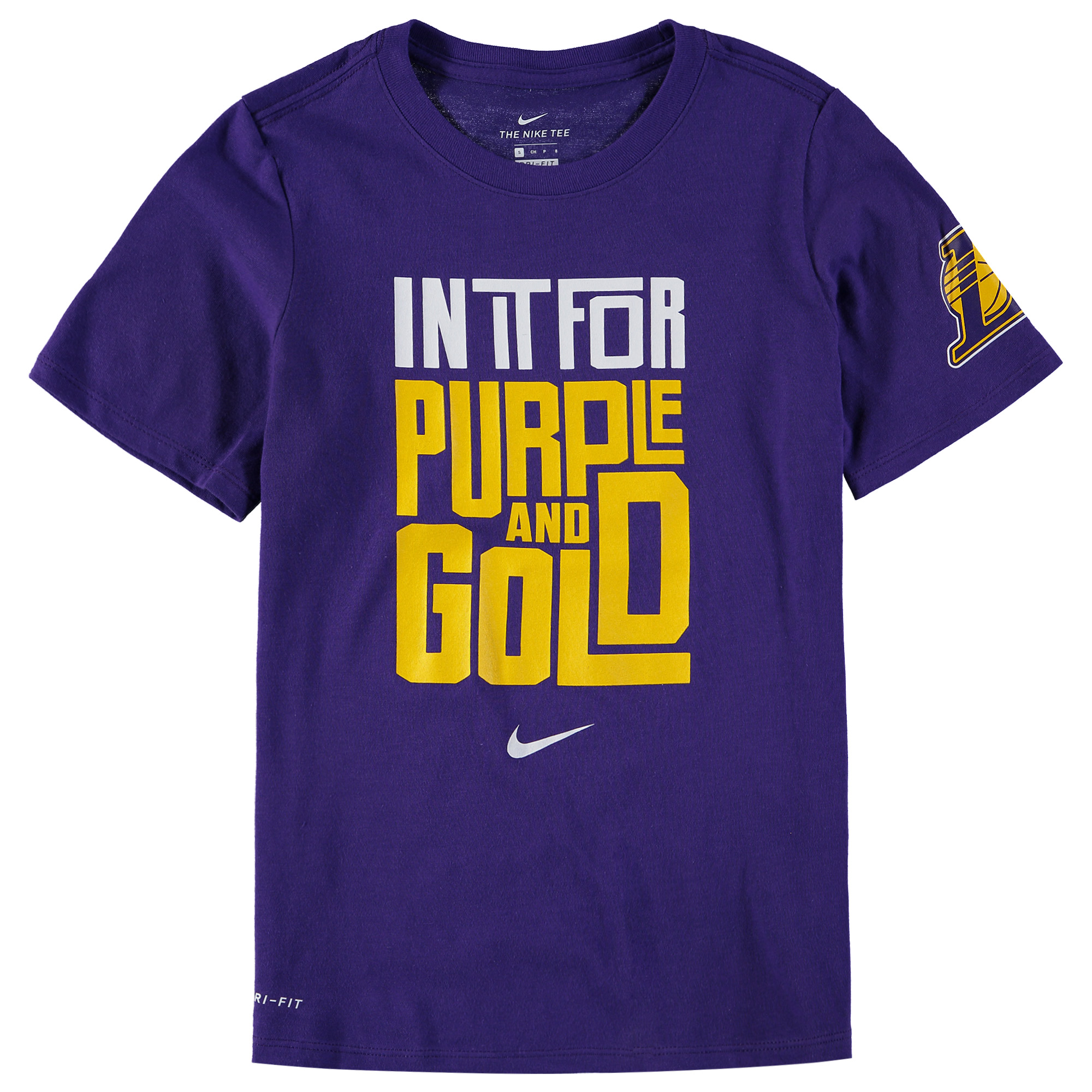 Los Angeles Lakers Nike Youth In It Verbiage Performance T-Shirt - Purple