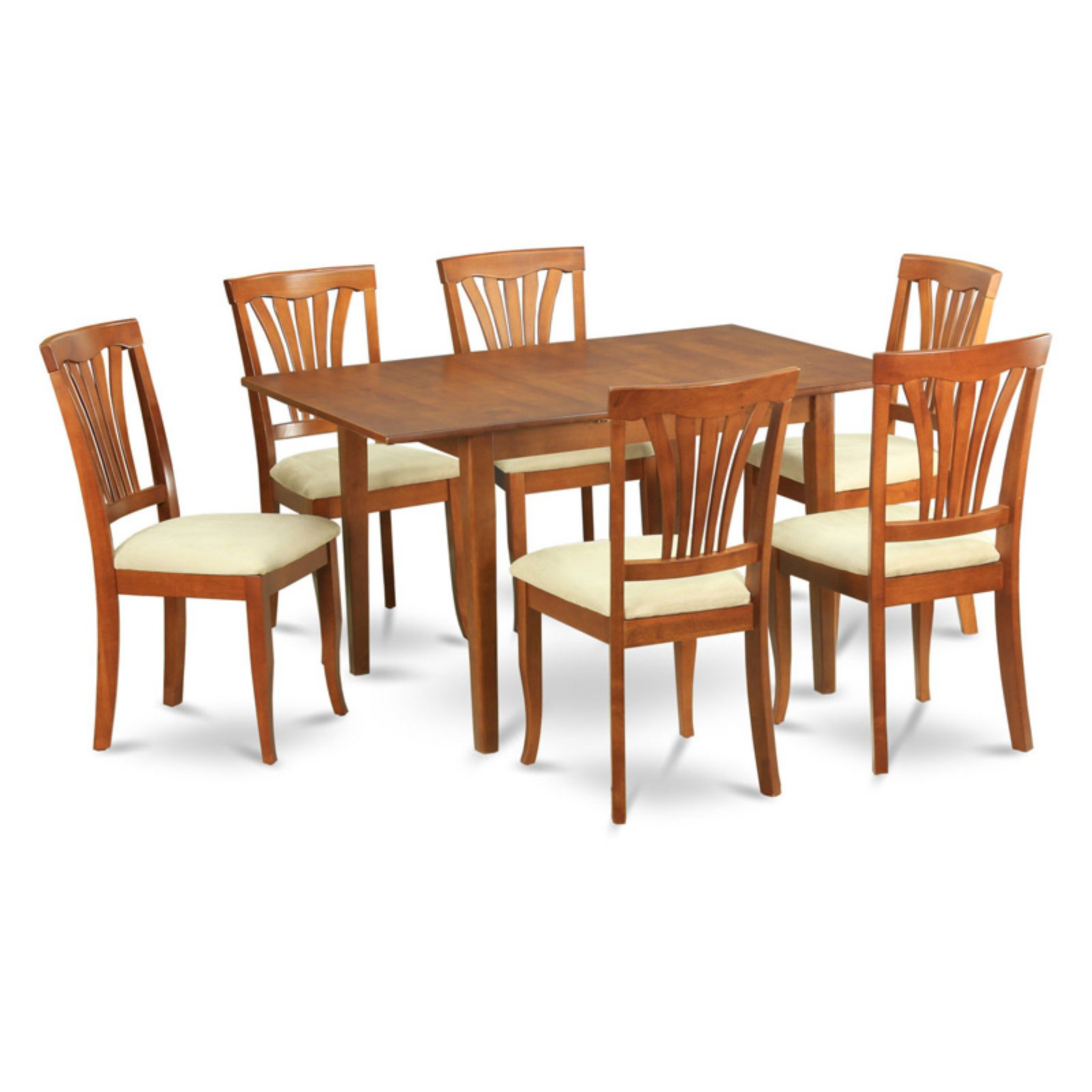 East West Furniture Milan 7 Piece Rectangular Dining Table Set with Avon Chairs