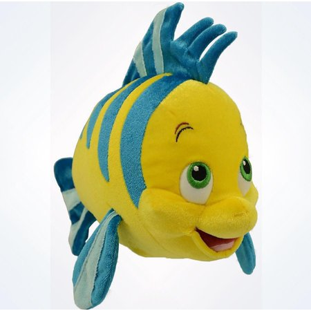 Disney Parks Authentic The Little Mermaid Flounder Plush New With Tags ()