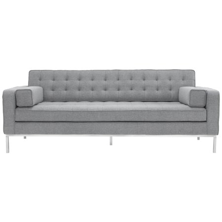 Safavieh Couture High Line Collection Davian Light Grey Wool Blend Sofa
