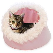 PETMAKER Feline Cat Comfort Cavern Pet Bed - Pink