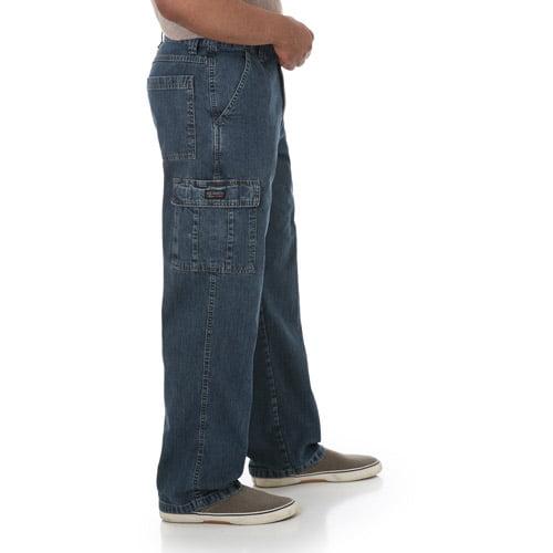 Wrangler - Big Men's Cargo Jeans - Walmart.com