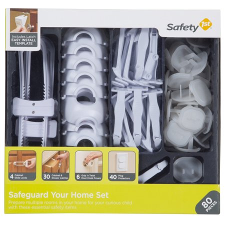 Safety 1st Home Safeguarding and Childproofing Set (80 pcs), White