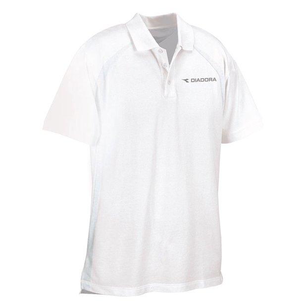 Diadora - Diadora Men's Roma Short Sleeve Polo Shirt WHITE L ...