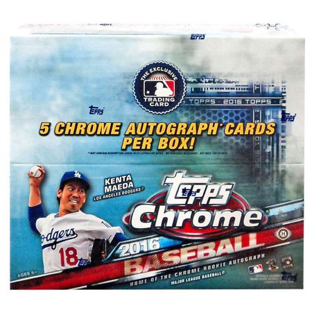 Mlb 2016 Bowman Chrome Baseball Cards Jumbo Hobby Box