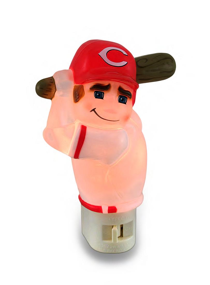 Cincinnati Reds Batter Up MLB Team Night Light Nite Lite by Marketing Results LTD