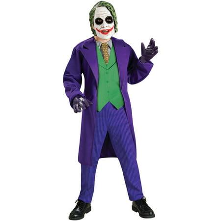 Halloween Child Deluxe Joker Costume - Good Halloween Jokes For Kids