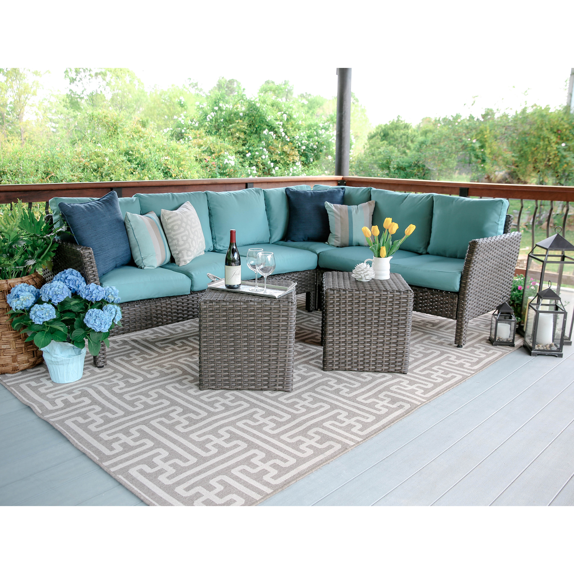 Leisure Made Canton Wicker Corner Sectional
