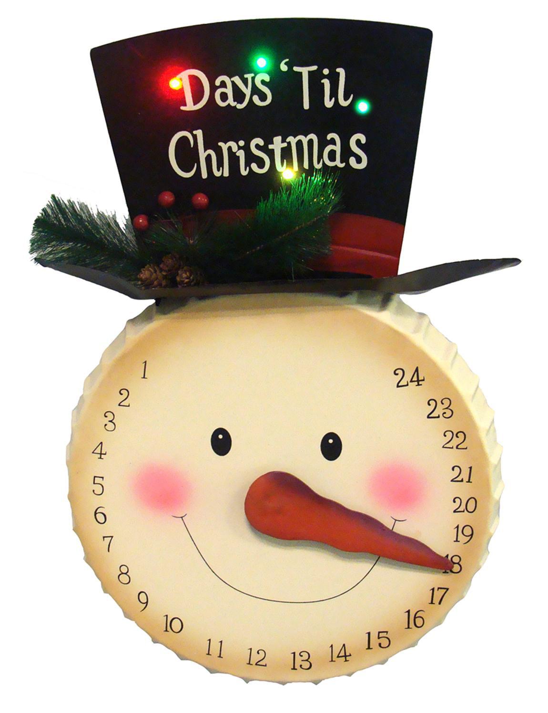 How Many Days Before Christmas.20 Led Lighted Days Til Christmas Snowman Face Countdown Advent Calendar
